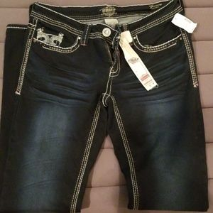 NEW, with tags, size 8 Hydraulic jeggings
